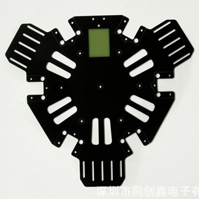 Fake double side circuit board black oil PCB circuit board